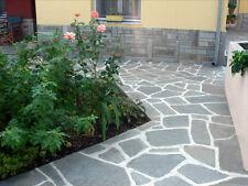 Polygonalplatten,Bodenplatten,Naturstein Schiefer grau Palettenpreis 12,95€/m²!!