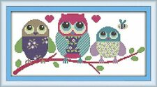 Joy Sunday Cross Stitch Kits 14CT Stamped Harbour 8.2x11.4 or 21cmx29cm Easy Patterns Embroidery for Girls Crafts DMC Cross-Stitch Supplies Needlework Animal Series