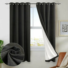JINCHAN Window Curtains Blackout Drapes for Living Room Thermal Backed One Panel