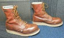 "Mens Thorogood American Heritage 8"" Waterproof Tobacco Safety Toe Boot 8.5 D"