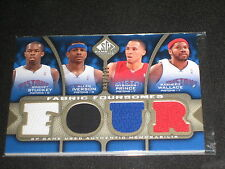 IVERSON PRINCE WALLACE STUCKEY QUAD SP UD GAME USED JERSEY BASKETBALL CARD /125