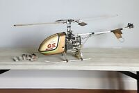 GMP CRICKET HELICOPTER VINTAGE RC Control NITRO CHOPPER O.S. motor engine Hobby