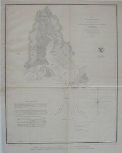 Original 1852 US Coast Survey Map ST. MARKS Florida Port Leon Railroad Wakulla