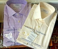 2 x BNIB Charles Tyrwhitt smart formal / office l/sleeve shirts both 16""