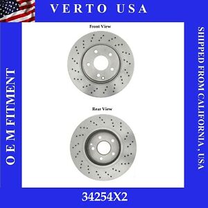 Front Brake Rotors For Mercedes-Benz CL500, S350, S430, S500 Base on Chart