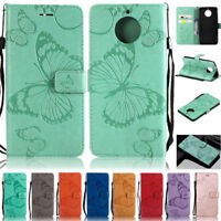 Butterfly Wallet Leather Flip Case Cover For Motorola Moto G9 Plus G9 Play G8 G7