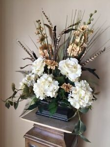 """""""ROMAN BEAUTY"""" - Traditional Tuscan Anytime Floral Silk Tabletop Arrangement"""