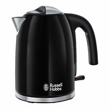 Russell Hobbs 20413 Colours Plus Stainless Steel Jug Kettle, 3kW 1.7L - Black