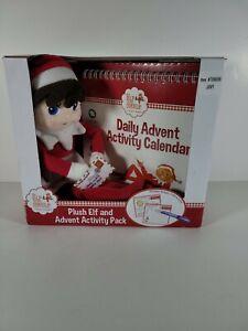 2013 Elf On The Shelf Girl Plush Advent Calendar Stickers Activity