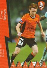 COREY BROWN BRISBANE ROAR A-LEAGUE 2014/2015 TAPNPLAY SOCCER CARD