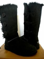 UGG~ Bailey Button Triplet tall Boots~Black US 5/ 36 (Fits US 6) New #1873