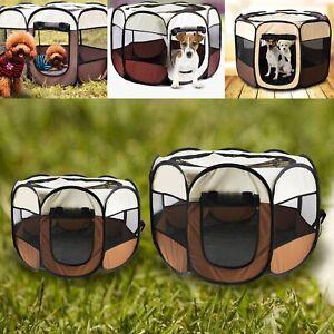 72x72x45cm/ 90x90x60cm Dog Puppy Cat Pet Playpen Fence Fabric Folding Portable