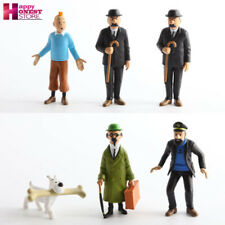 The Adventures of Tintin Action Figure 6PCS PVC Cartoon Collectible Gift Toys