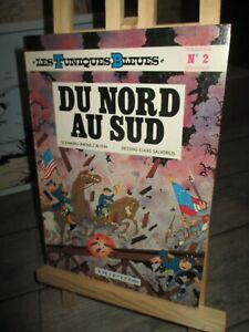 Cauvin & Salvérius-Bd-Tuniques Bleues+Dédicace&dessin Cauvin-Du Nord au Sud-1977