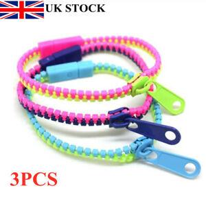 3 Pack Zipper Bracelet Fidget Focus Toy Stress Relief ADHD AUTISM Zip School UK
