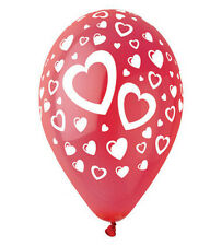 Heart print Latex Balloons Pack of 10