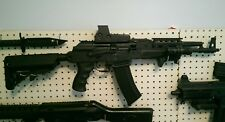 APS AK74 Electric Blowback Airsoft AEG with Eotech Style Red Dot and Laser