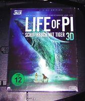 LIFE OF PI NAUFRAGIO CON TIGER 3D BLU-RAY 3D + 2D VERSIÓN NUEVO Y EMB. ORIG.