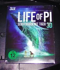 LIFE OF PI SHIPWRECK WITH TIGER 3D BLU-RAY 3D + BLU-RAY 2D VERSION