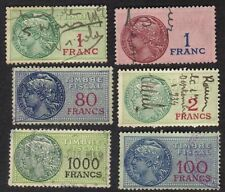France 1925 Revenues Timbre Fiscal Revenues 1F-1000F Lot Of 6
