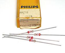 4x Germanium Diode AAY18 / AAY 18, Philips, Glas-Gehäuse, NOS