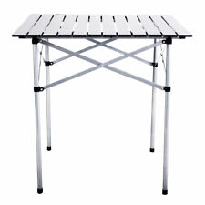 """Outdoor Portable Roll Up Folding Camping Square Aluminum Picnic Table Bag 28"""""""