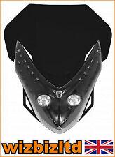 Motorbike Twin Lights Spectre Fairing Headlight With Fixings Black HLUSPEBLK