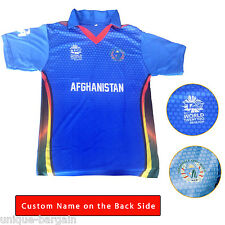 T20 Worldcup Cricket 2016 Afghanistan CA Official T-Shirt New Jersey Afghan T20