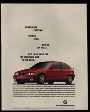 1995 BMW 318ti Red Sports Car - Adrenaline Pumping Ride VINTAGE AD