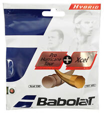 Babolat Pro Hurricane Tour 17 / 1.25mm (Yellow) + Xcel 16 / 1.30mm (Natural)