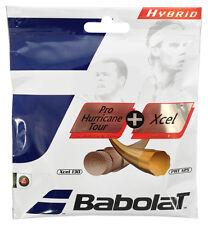 Babolat Pro Hurricane Tour 17 / 1.25mm (Yellow) + Xcel 16 / 1.30mm (Natural)