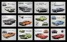 12 PLYMOUTH ART PRINTS - 1970 1971 1972 1973 1974 CUDA ROAD RUNNER BARRACUDA AAR