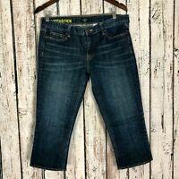 J. Crew Women's Matchstick Dark Wash Stretch Crop Capri Jeans Women's Size: 31