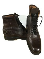 G STAR RAW UK 8 EU 42 US 9 Dark Brown Leather Biker  Combat Lace Up Ankle Boots