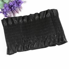 Elastic Cummerbund Corset Wide Stretch Leather Waistband Dress Blouse Belt Black