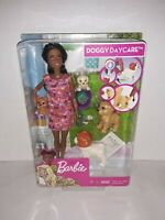 BARBIE DOGGY DAYCARE AFRICAN AMERICAN WITH 4 PUPPIES MATTEL NEW