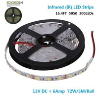 DC12V SMD5050-300-IR InfraRed 850nm Flexible LED Strips 60LEDs Non-Waterproof