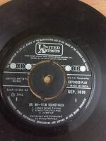 DR NO FILM SOUNDTRACK MONTY NORMAN james bond theme 1962 RARE SINGLE INDIA ex