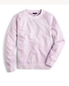 J Crew Garment Dyed Crewneck Sweatshirt Smokey Wisteria Size Small