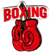 """""""BOXING""""  GLOVES PATCH - Iron On Embroidered Applique Patch-Boxer, Sports"""