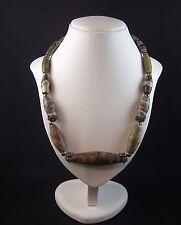 Superb ancient Bactrian jasper bead necklace