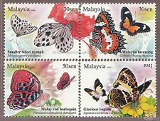 [SS] Malaysia 2008 Butterflies STAMP SET