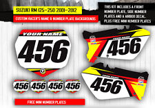 RM 125 250 2001 2003 2004 2005  CUSTOM NUMBER PLATE BACKGROUNDS-YOUR NUMBERS