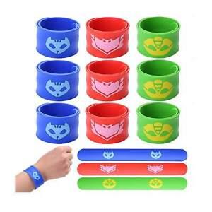 12 PJ Masks Slap Bracelet Wristbands Party Favors Decoration