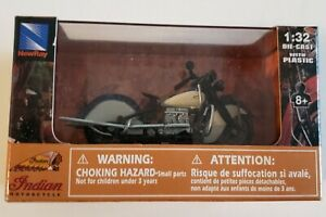 Indian Four 1939 Blue and White 1:32 Die Cast by Indian Motorcycles Brand New