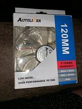 NIB New Autolizer  120mm RGB Multi-Color LEDs Silent Cooling Fan for PC