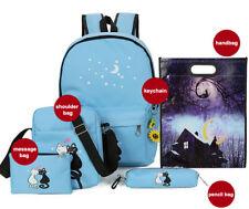 Women Girl Canvas Shoulder Backpack School Bag Travel Satchel Rucksack Sky Blue