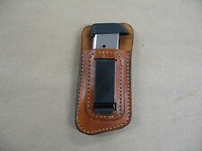Leather IWB Inside Waistband Magazine Mag Pouch For Springfield 911 380 CCW TAN