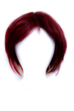 11'' Short Straight Men's Cut with Long Bangs Rustic Red Wig Cosplay NEW