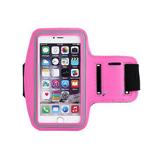 Sports Running Yoga Gym Armband Arm Band Case Cover Holder for Mobile PHONES D4w Rose